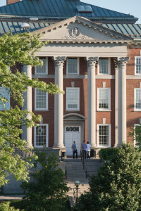 Maxwell Hall Exterior Spring Summer Campus Scenes